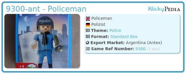 Playmobil 9300-ant - Policeman