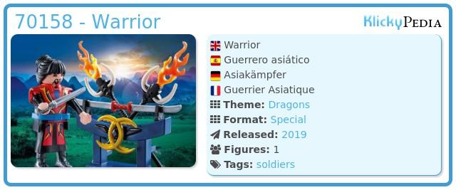 Playmobil 70158 - Asian Fighter