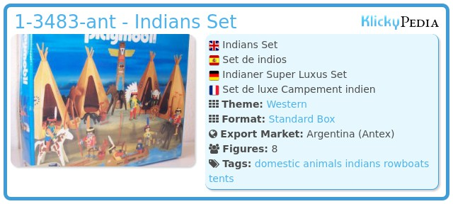 Playmobil 1-3483-ant - Indians Set