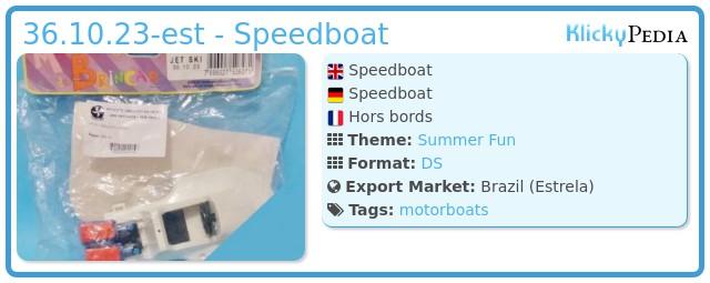Playmobil 36.10.23-est - Speedboat