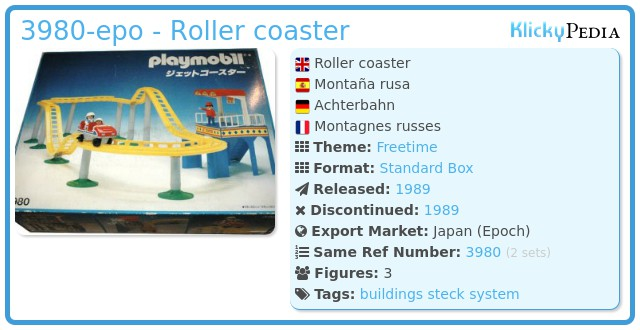 Playmobil 3980-epo - Roller coaster