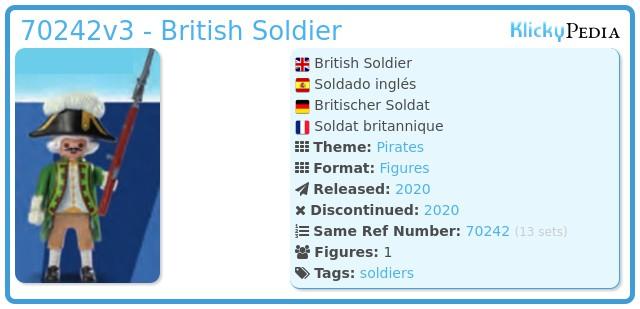 Playmobil 70242v3 - British Soldier