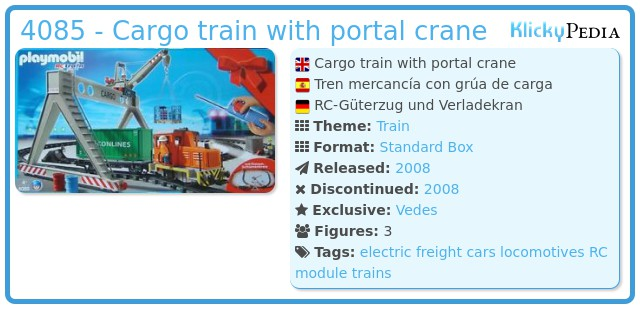 Playmobil 4085 - Cargo train with portal crane