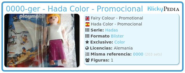 Playmobil 0000-ger - Hada Color - Promocional