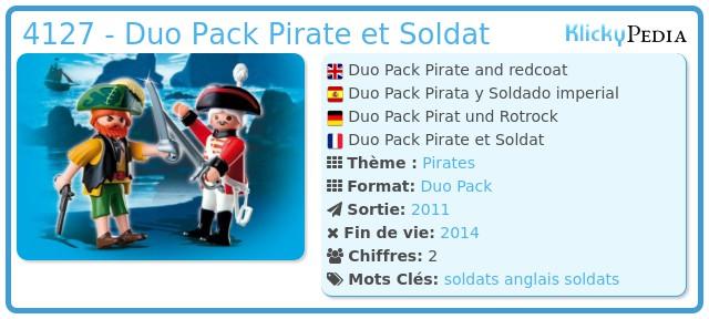 Playmobil 4127 - Duo Pack Pirate et Soldat