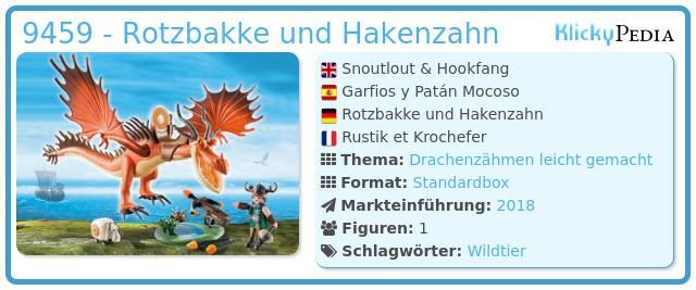 Playmobil 9459 - Rotzbakke und Hakenzahn