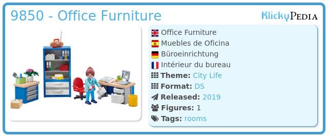 Playmobil 9850 - Office Furniture