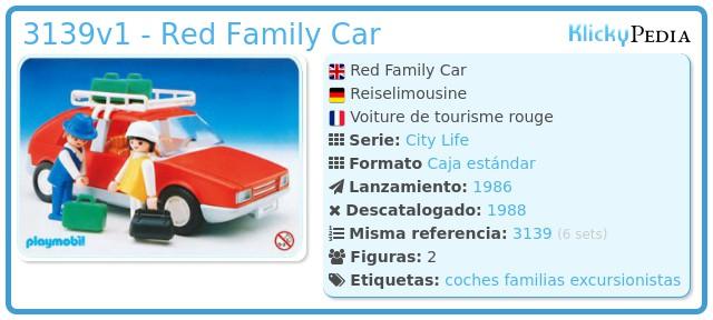 Playmobil 3139v1 - Red Family Car