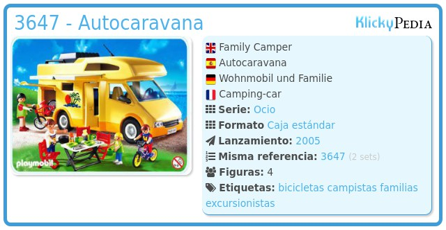 Playmobil 3647 - Autocaravana