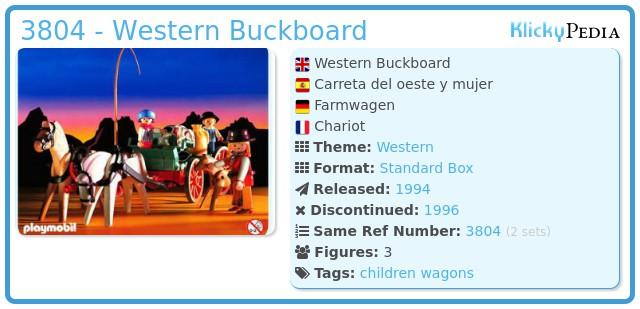 Playmobil 3804 - Western Buckboard