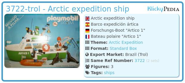 Playmobil 3722-trol - Arctic expedition ship