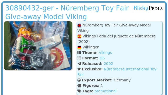 Playmobil 30890432-ger - Nüremberg Toy Fair Give-away Model Viking