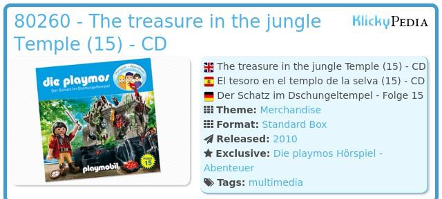 Playmobil 80260 - The treasure in the jungle Temple (15) - CD