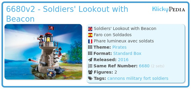 Playmobil 6680v2 - Soldiers light-tower