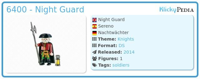 Playmobil 6400 - Night Guard