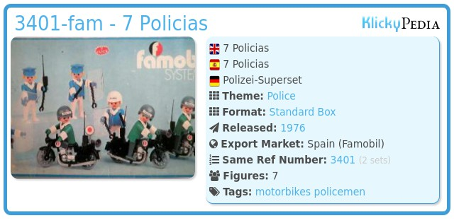 Playmobil 3401-fam - 7 Policias