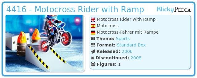 Playmobil 4416 - Motocross Rider with Ramp