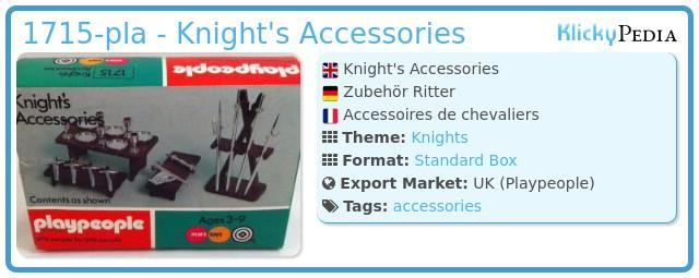 Playmobil 1715-pla - Knight's Accessories