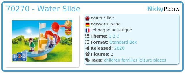 Playmobil 70270 - Water Slide