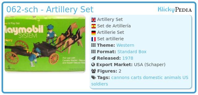 Playmobil 062-sch - Artillery Set