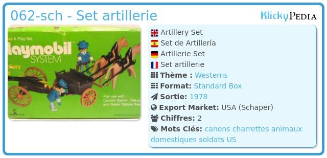Playmobil 062-sch - Set artillerie