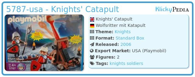 Playmobil 5787-usa - Knights' Catapult