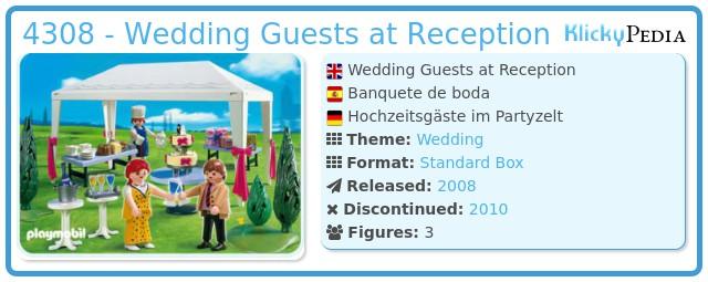 Playmobil 4308 - Wedding Guests at Reception