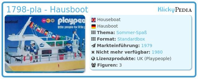 Playmobil 1798-pla - Hausboot