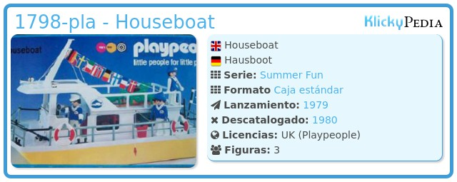 Playmobil 1798-pla - Houseboat