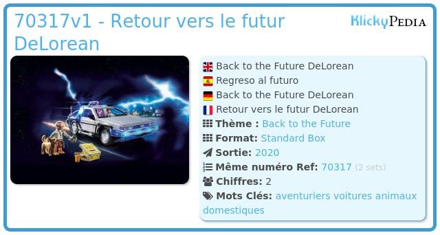 Playmobil 70317 - Retour vers le futur DeLorean