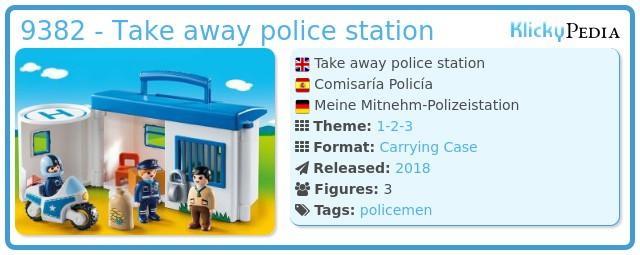 Playmobil 9382 - Take away police station