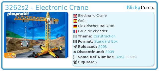 Playmobil 3262s2 - Electronic Crane