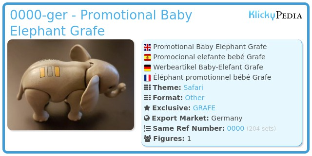 Playmobil 0000-ger - Promotional Baby Elephant Grafe