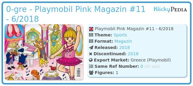 Playmobil 0-gre - Playmobil Pink Magazin #11 - 6/2018