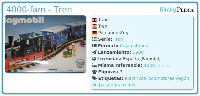 Playmobil 4000-fam - Tren