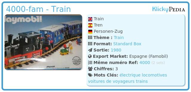 Playmobil 4000-fam - Train