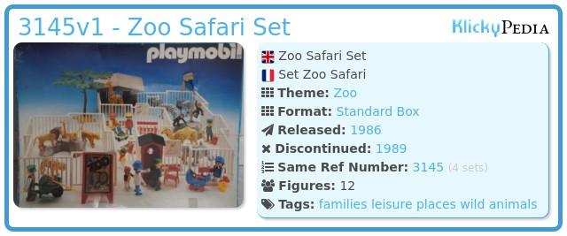 Playmobil 3145v1 - Zoo Safari Set