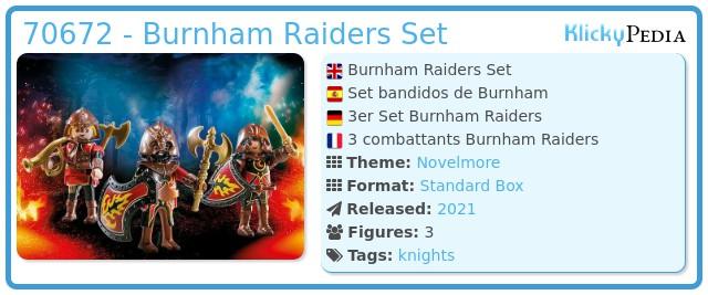 Playmobil 70672 - Burnham Raiders Set