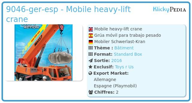Playmobil 9046-ger-esp - Mobile heavy-lift crane