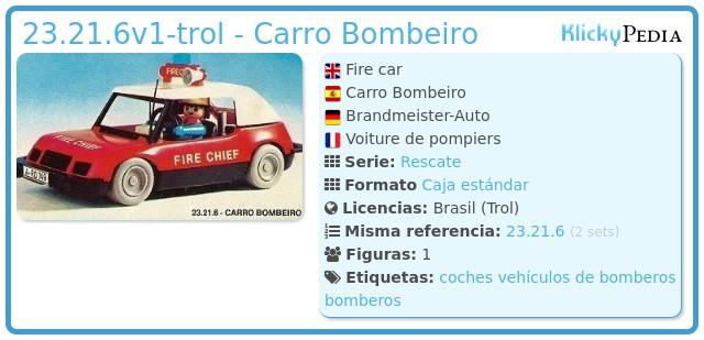 Playmobil 23.21.6-trol - Carro Bombeiro