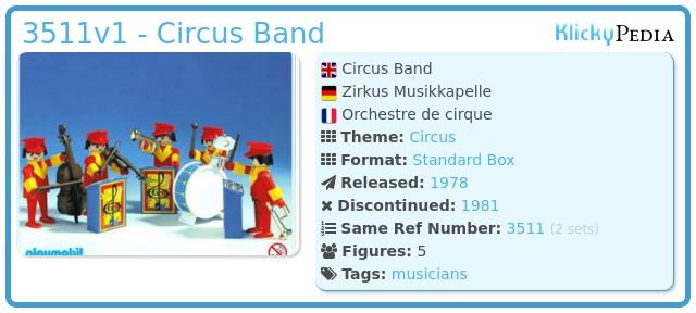 Playmobil 3511v1 - Circus Band