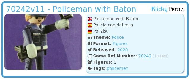 Playmobil 70242v11 - Policeman with Baton