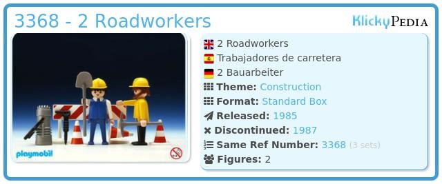 Playmobil 3368 - 2 Roadworkers