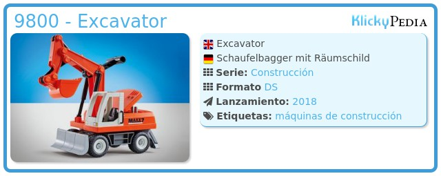 Playmobil 9800 - Excavator