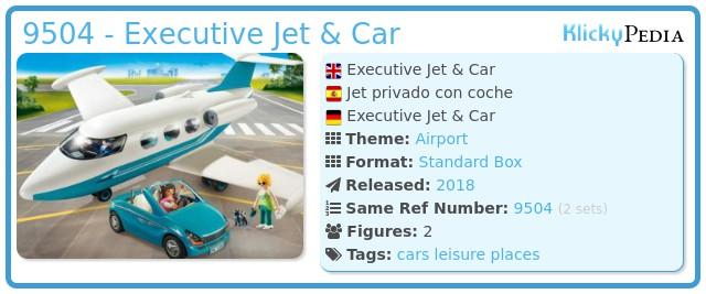 Playmobil 9504 - Executive Jet & Car