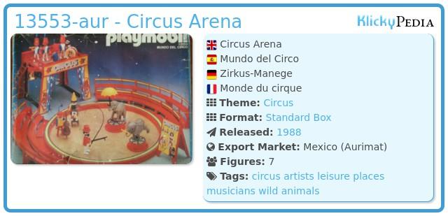 Playmobil 13553-aur - Circus Arena