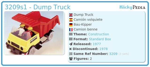 Playmobil 3209s1 - Dump Truck