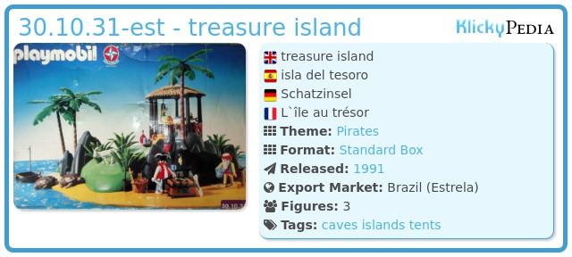 Playmobil 30.10.31-est - treasure island