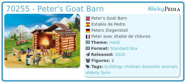 Playmobil 70255 - Peter's Goat Barn