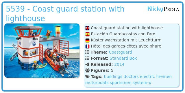 Playmobil 5539 - Coast guard station with lighthouse